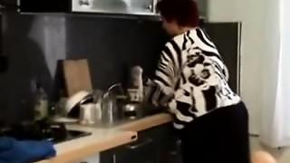 BBW, Grannies, Kitchen, Mature, Slut