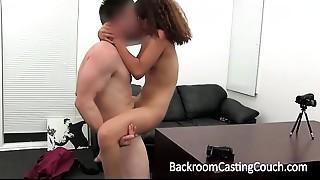 Anal, Casting, Creampie, Cumshot, Fucking, Latina, Office, POV, Teen