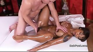 Big Ass, Black and Ebony, Blowjob, Fucking, Interracial, Massage, Oiled, Orgasm, Softcore
