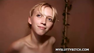 Amateur, Blonde, Girlfriend, Shower