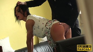BDSM, Big Boobs, British, Cumshot, Doggystyle, Spanking