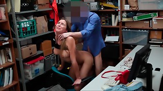 Blonde, Caught, Cumshot, Fucking, Office, Shaved, Teen