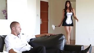 Babe, Big Ass, Big Cock, Blowjob, Brunette, Doggystyle, Dress, Fucking, Maid, Petite