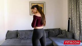 Amateur, Ass to Mouth, Casting, Cumshot, Gym, POV, Russian, Yoga