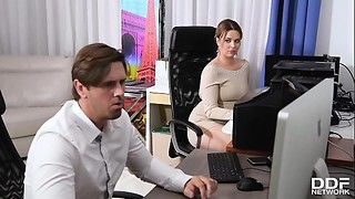 Big Boobs, Blowjob, Cumshot, MILF, Office
