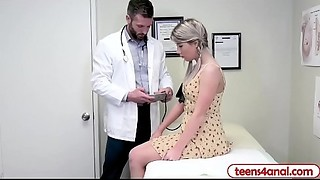 Anal, Blonde, Doctor, Doggystyle, Fingering, Fucking, Pornstar, Shy, Small Tits, Teen