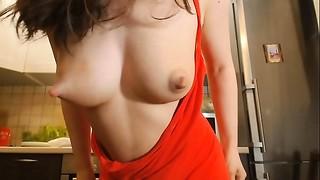 Big Boobs, Brunette, Close-up, Homemade, Mature, MILF, Milk, Natural, Nipples, Russian