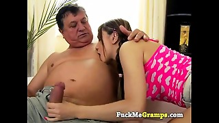 Babe, Daddy, Grannies, Old and young, School, Teen