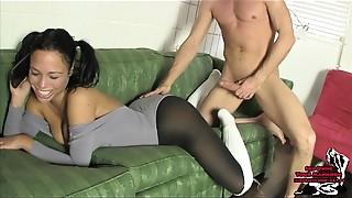 Ass licking, Cumshot, Panties, Pantyhose, Smoking, Socks