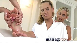 Blowjob, Fingering, Lesbian, Massage, Oiled, Orgasm, Threesome