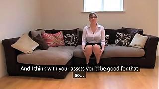 Amateur, Big Boobs, British, Casting, Fake, Office, Orgasm, POV