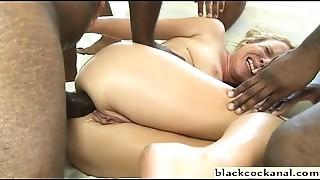 Anal, Big Cock, Black and Ebony, Blowjob, Creampie, Gangbang, Group Sex, Interracial, Slut
