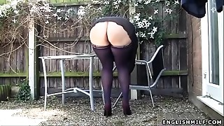 Big Ass, British, Chubby, Flashing, Housewife, MILF, Nylon, Outdoor, Panties, Public Nudity