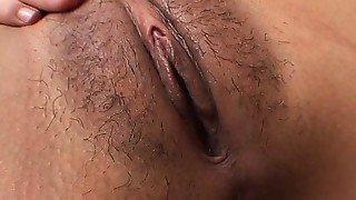 Asian, Big Ass, Big Boobs, Close-up, Fingering, Hairy, Lingerie, Masturbation, Panties, Solo