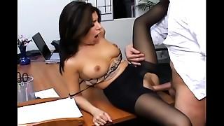 Big Boobs, Lingerie, Nylon, Office, Panties, Pantyhose, Secretary