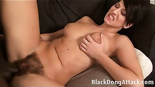 Babe, Big Cock, Black and Ebony, Blowjob, Brunette, Hairy, Fucking, Interracial, Sex Toys
