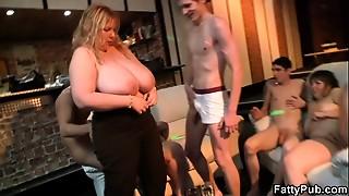 BBW, Big Boobs, Chubby, Drunk, Gangbang, Group Sex, Fucking, Milk, Party