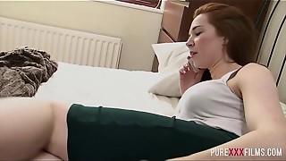 Big Boobs, Big Cock, Blowjob, British, Cumshot, Doggystyle, Fingering, Masturbation, Natural, Redhead