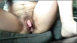 Clit,Hairy,Masturbation