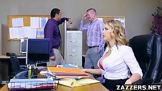 Big Ass, Big Boobs, Big Cock, Blonde, Blowjob, Secretary, Titfuck