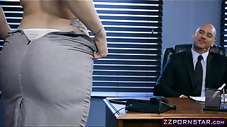 Big Boobs, Blowjob, Doggystyle, MILF, Office, Redhead, Secretary, Stockings