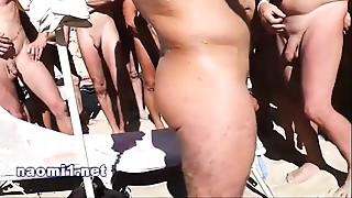 Big Cock, Blowjob, Cumshot, Handjob, Outdoor, Public Nudity, Shower