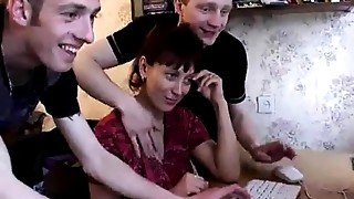 Anal, Blowjob, Creampie, Cumshot, Gangbang, Group Sex, Mature, MILF, Russian, Stepmom
