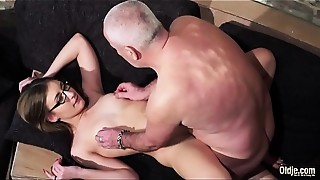 Beautiful,Big Ass,Blowjob,Cumshot,Daddy,Glasses,Grannies,Mature,Old and young,Petite