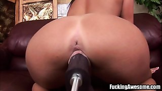 Big Boobs, Brunette, Fucking, Machine, Sex Toys, Solo