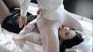 BDSM, Face Sitting, High Heels, Lesbian, Nylon, Panties, Pantyhose, School, Sex Toys, Strapon