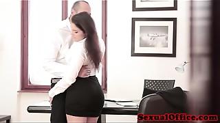 Babe,Big Ass,Big Boobs,Cumshot,Glasses,Handjob,Office,Secretary,Titfuck,Upskirt