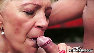 Blonde, Blowjob, Cumshot, Fingering, Grannies, Kissing, Mature, Teen