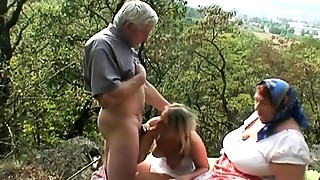 Blonde, Blowjob, Couple, Cumshot, Extreme, Fucking, Mature, Outdoor, Public Nudity, Teen