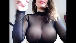 Amateur, Beautiful, Big Boobs, Masturbation, Nylon, Pissing, Stockings