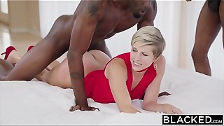 Big Cock, Black and Ebony, Blowjob, Brunette, Cumshot, Doggystyle, Double Penetration, Facial, Housewife, Threesome