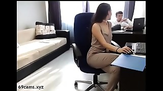 Beautiful, Blowjob, Brunette, Doggystyle, Office, Secretary, Webcams