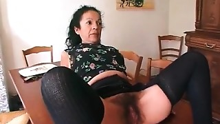 Hairy,Mature,Old and young,Slut
