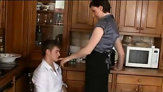 Kitchen, Mature, Old and young, Teen