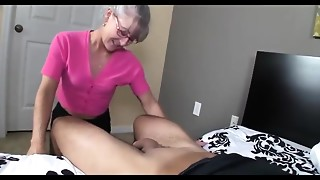 Compilation,Grannies,Handjob,Mature,MILF,Old and young,Stepmom,Teen