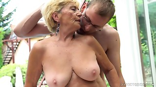 Extreme, Grannies, Hairy, Mature, Old and young, Outdoor, Pool, Teen