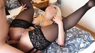 Amateur, Anal, Blonde, Couple, Cumshot, Stockings