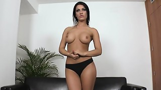 Big Boobs,Brunette,Casting,Petite,Reality,Solo