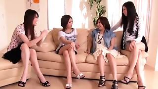 Asian, Blowjob, Femdom, Group Sex
