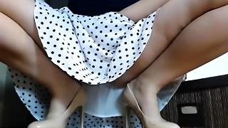 Brunette, Solo, Upskirt, Webcams