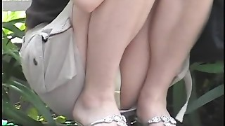 Asian, Beautiful, Hidden Cams, Outdoor, Upskirt