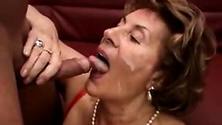 Cumshot, Facial, Grannies, MILF, Old and young, Stepmom, Teen