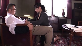 Asian, Blowjob, Brunette, Facial, Office, School, Slut, Teen