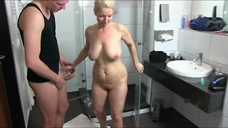 Big Boobs, Blonde, Blowjob, Fucking, Mature, MILF, Natural, Orgasm, Shower, Squirting