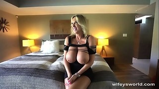 Big Boobs, Blonde, Blowjob, Cumshot, Facial, Handjob, Fucking, Mature, MILF, Wife