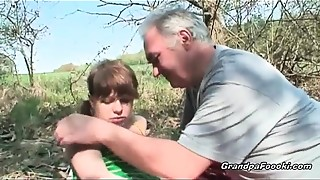 Babe, Blowjob, Brunette, Caught, Outdoor, Solo, Teen